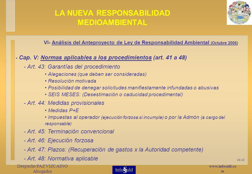 www.infosald.co m Despacho PAZ VIZCAINO Abogados 36/40 - Cap.