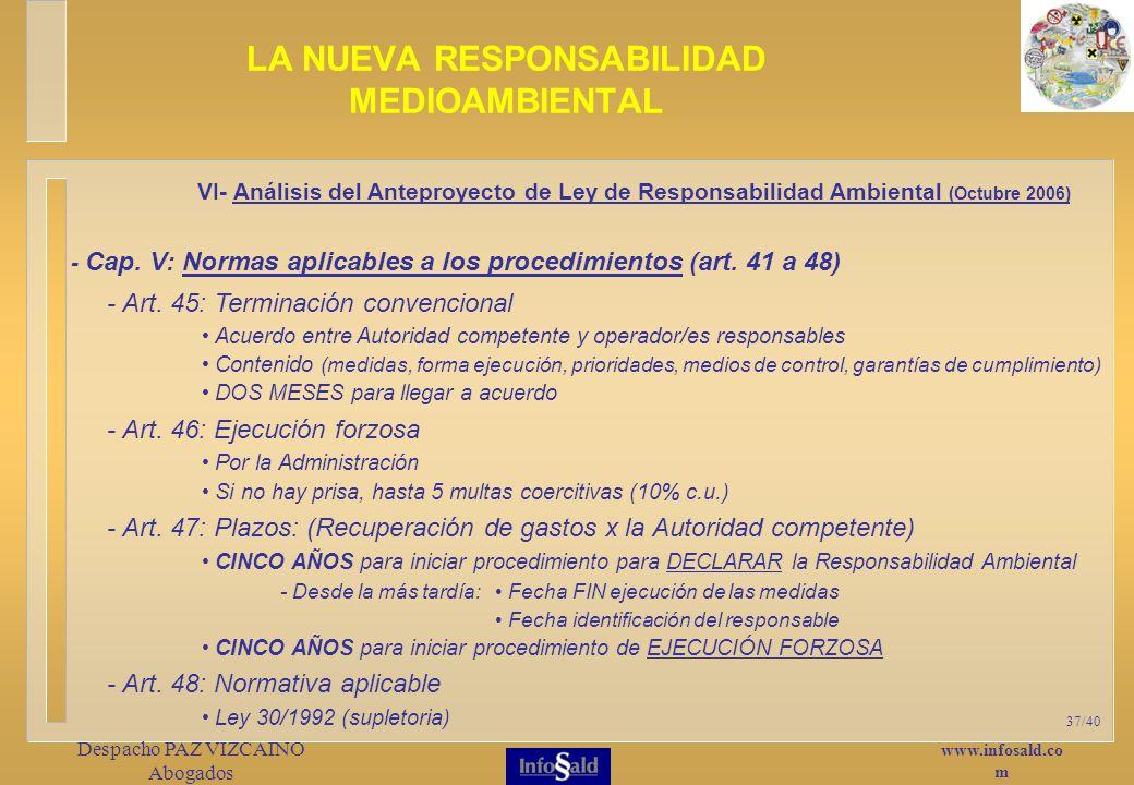 www.infosald.co m Despacho PAZ VIZCAINO Abogados 37/40 - Cap.