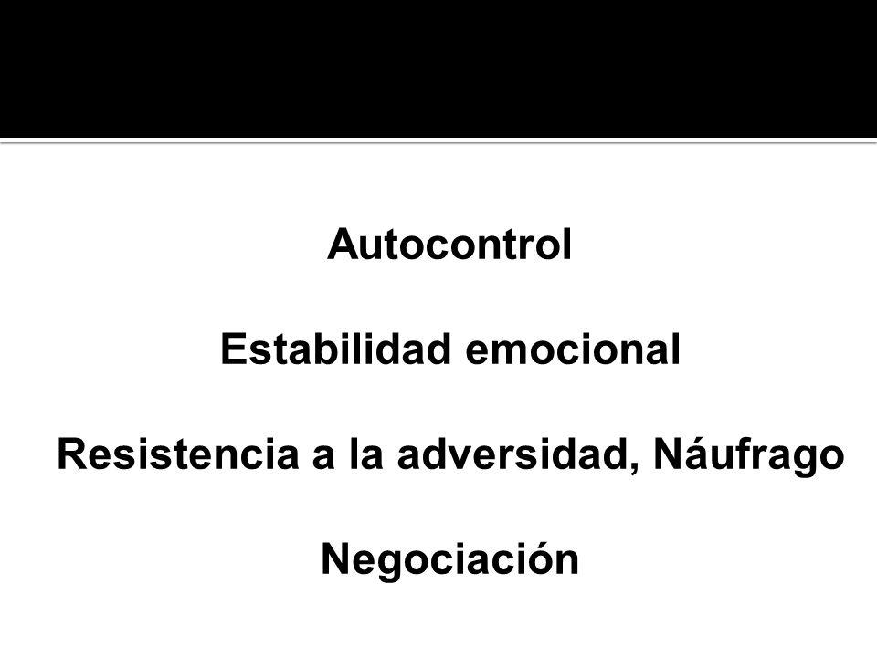 Autocontrol Estabilidad emocional Resistencia a la adversidad, Náufrago Negociación