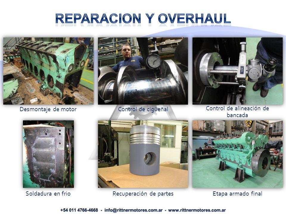 Desmontaje de motor Control de cigüeñal Control de alineación de bancada Soldadura en frio Recuperación de partes Etapa armado final