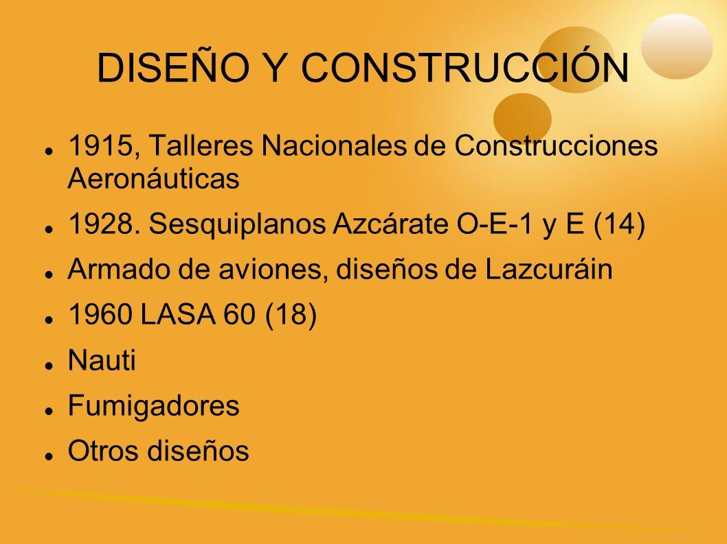 DISEÑO Y CONSTRUCCIÓN 1915, Talleres Nacionales de Construcciones Aeronáuticas 1928.