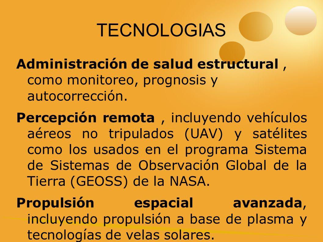 TECNOLOGIAS Administración de salud estructural, como monitoreo, prognosis y autocorrección.