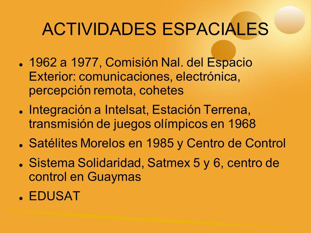 ACTIVIDADES ESPACIALES 1962 a 1977, Comisión Nal.