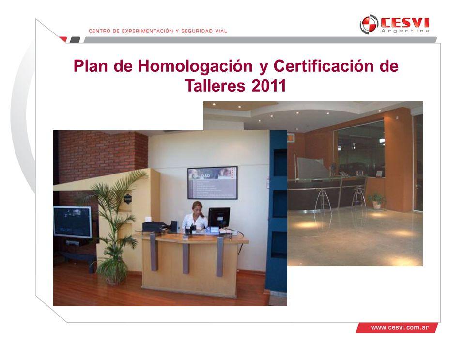 Desarrollo de Talleres 2011 Plan de Homologación y Certificación de Talleres 2011
