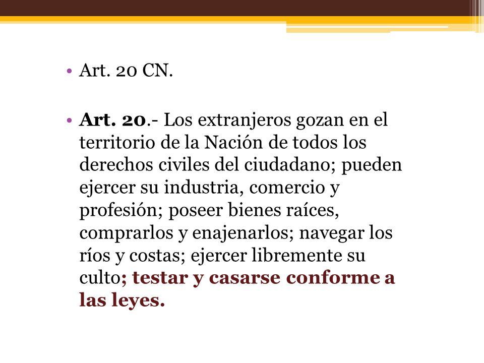 Art.20 CN. Art.