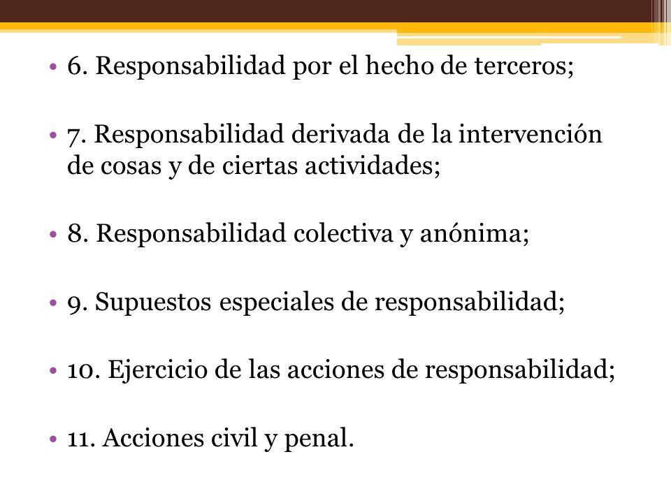 6.Responsabilidad por el hecho de terceros; 7.