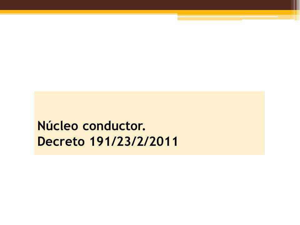 Núcleo conductor. Decreto 191/23/2/2011
