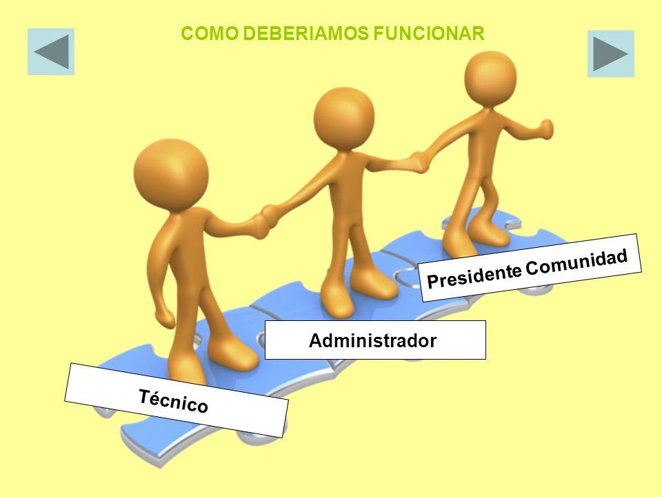 Técnico Administrador Presidente Comunidad COMO DEBERIAMOS FUNCIONAR