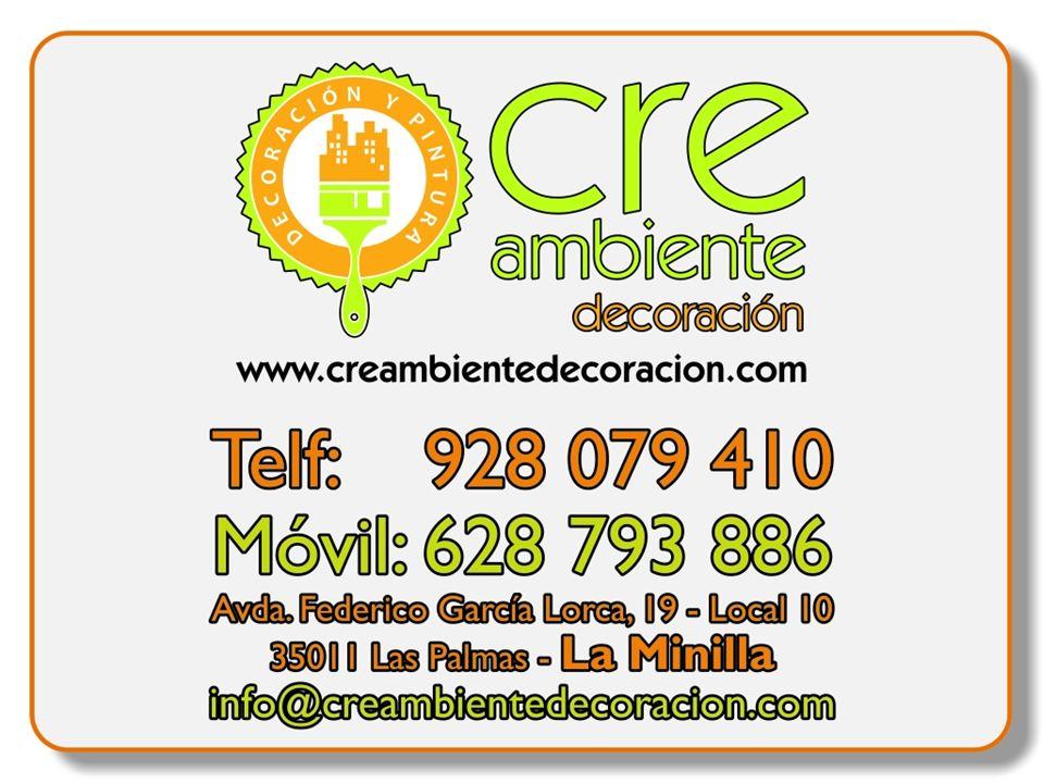 Quienes Somos… Creambiente Decoración es una empresa Canaria dedicada a la VENTA de Pinturas, accesorios de decoración en general y albañilería, seguridad laboral, impermeabilizantes, fibra de vidrio, morteros especiales, microcementos, etc… También realizamos trabajos de Reformas en General.