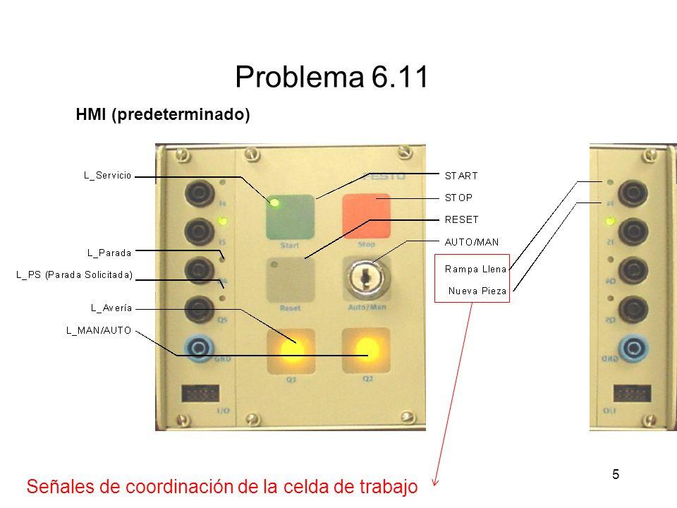 5 Problema 6.11 HMI (predeterminado) Señales de coordinación de la celda de trabajo
