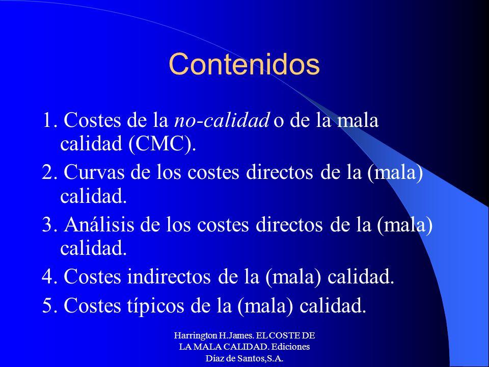 Control de Calidad La Calidad en los procesos productivos: Costes de la calidad
