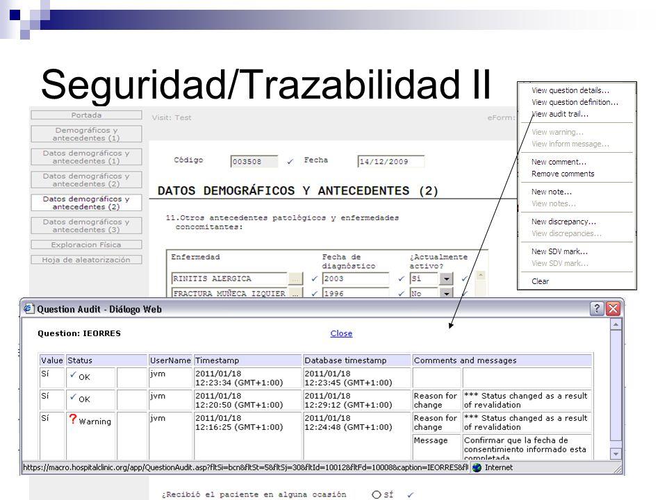 Entrada de datos Local y remota. Ayuda interactiva. Validación por campo, formulario, visita y CRD.