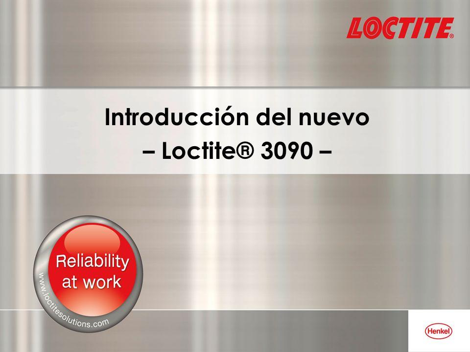 Loctite® 3090 – Características básicas Relleno de holguras (hasta 5 mm).