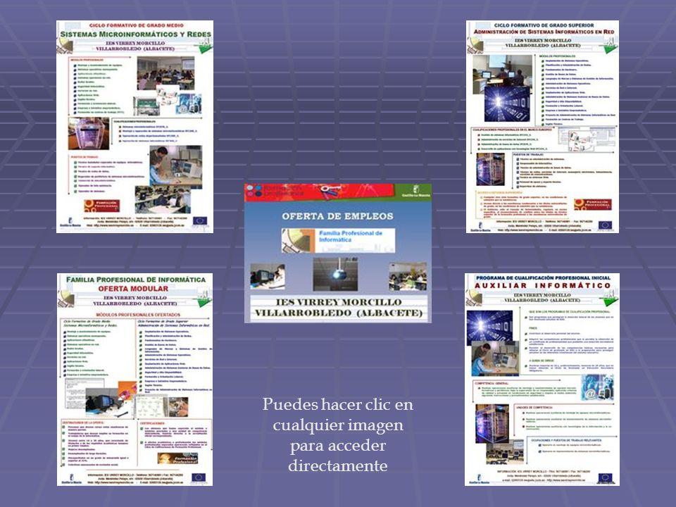 Puedes hacer clic en cualquier imagen para acceder directamente