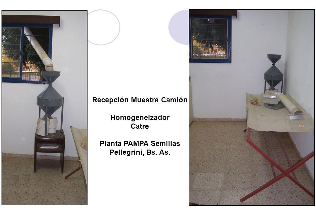 Recepción Muestra Camión Homogeneizador Catre Planta PAMPA Semillas Pellegrini, Bs. As.