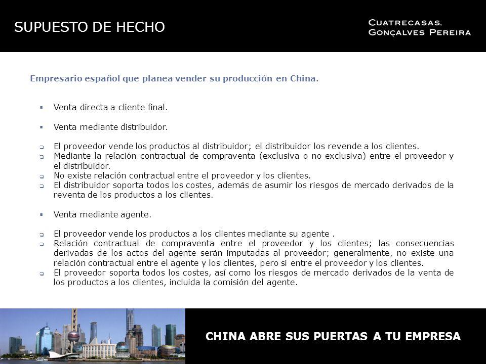 Empresario español que planea vender su producción en China.