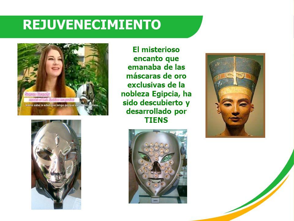 El misterioso encanto que emanaba de las máscaras de oro exclusivas de la nobleza Egipcia, ha sido descubierto y desarrollado por TIENS REJUVENECIMIEN