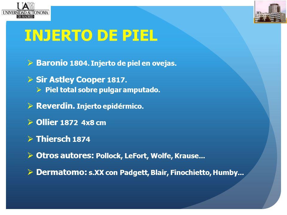INJERTO DE PIEL Baronio 1804. Injerto de piel en ovejas.