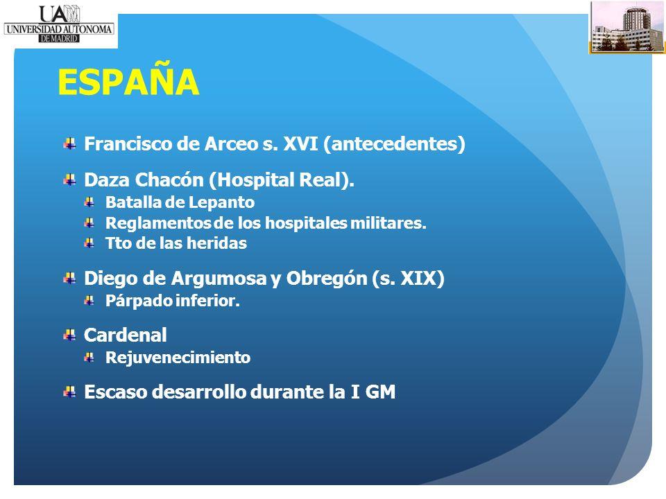 ESPAÑA Francisco de Arceo s. XVI (antecedentes) Daza Chacón (Hospital Real).