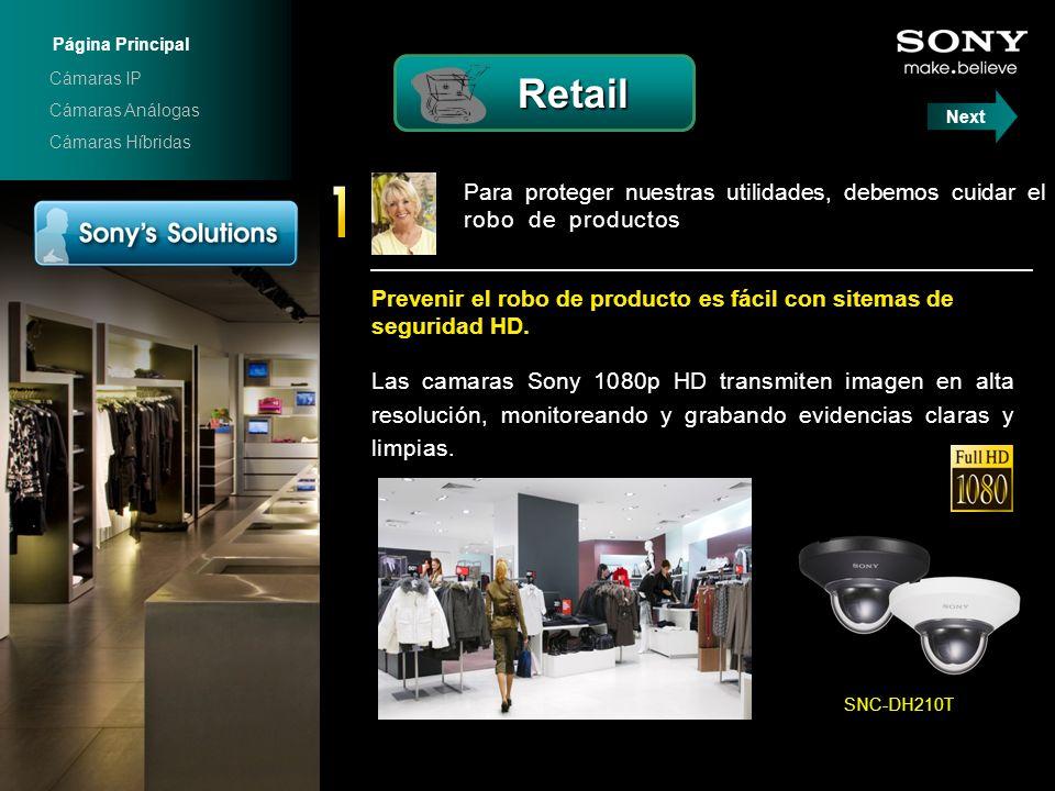 Para proteger nuestras utilidades, debemos cuidar el robo de productos. Las camaras Sony 1080p HD transmiten imagen en alta resolución, monitoreando y