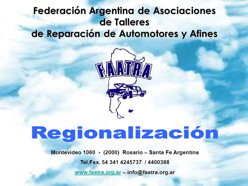 Regionalización Provincia de Córdoba FAATRA – Región AMUPTRA – Córdoba Constituida por: Río Primero – Río Segundo – Tercero Arriba – Santa María – Punilla - Colon