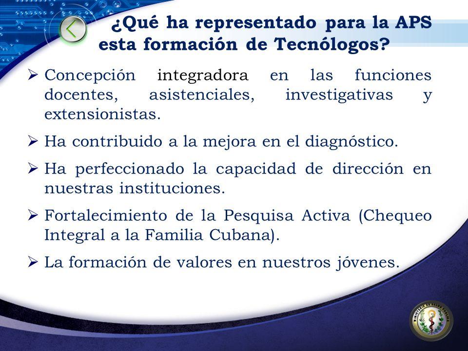 Concepción integradora en las funciones docentes, asistenciales, investigativas y extensionistas. Ha contribuido a la mejora en el diagnóstico. Ha per