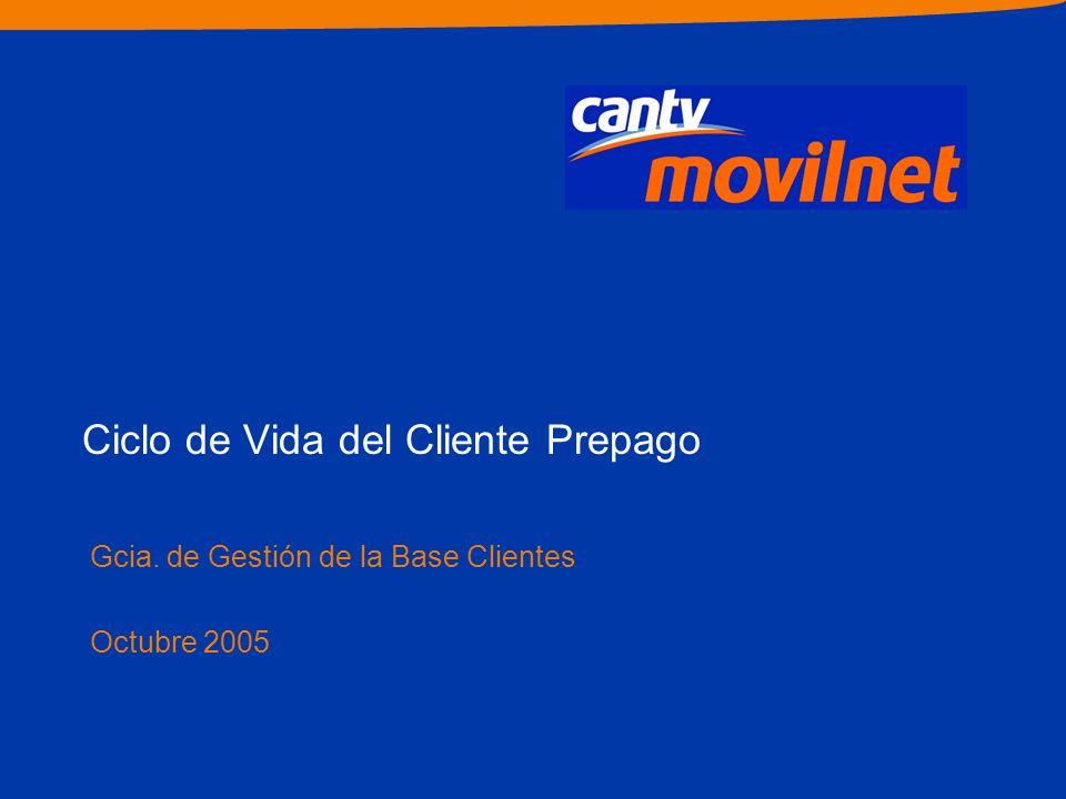 Ciclo de Vida del Cliente Prepago Gcia. de Gestión de la Base Clientes Octubre 2005