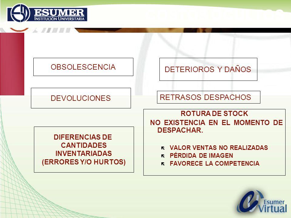 www.highlogistics.com logistics@une.net.co COSTOS OCULTOS ROTURA DE STOCK NO EXISTENCIA EN EL MOMENTO DE DESPACHAR. ë VALOR VENTAS NO REALIZADAS ë PÉR