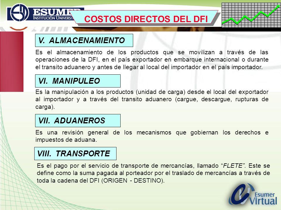 www.highlogistics.com logistics@une.net.co V. ALMACENAMIENTO Es el almacenamiento de los productos que se movilizan a través de las operaciones de la