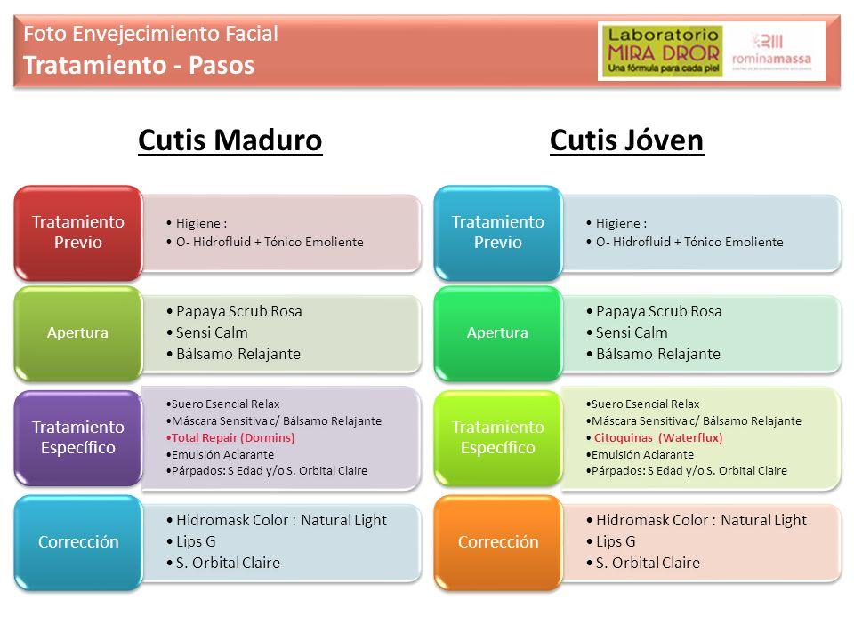 Foto Envejecimiento Facial Tratamiento - Pasos Foto Envejecimiento Facial Tratamiento - Pasos Cutis MaduroCutis Jóven