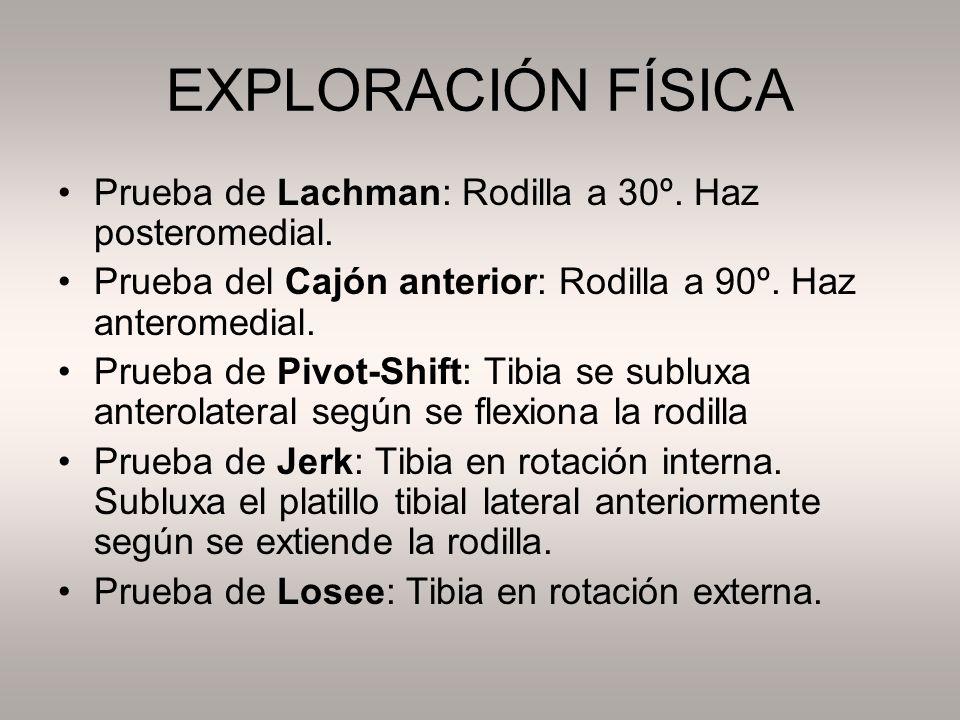 DIAGNÓSTICO POR IMAGEN Radiología simple: Avulsión espina tibial anterior.