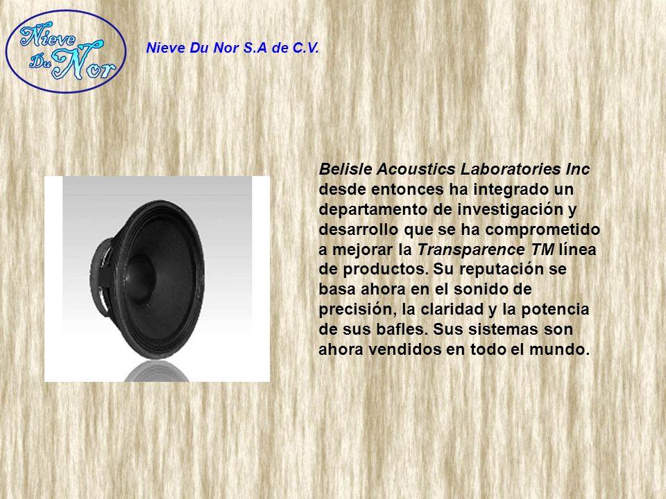 Belisle Acoustics Laboratories Inc desde entonces ha integrado un departamento de investigación y desarrollo que se ha comprometido a mejorar la Trans