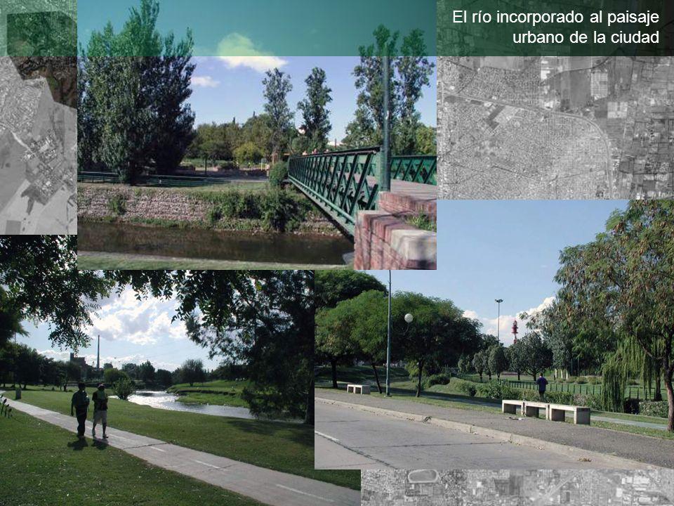 El río incorporado al paisaje urbano de la ciudad