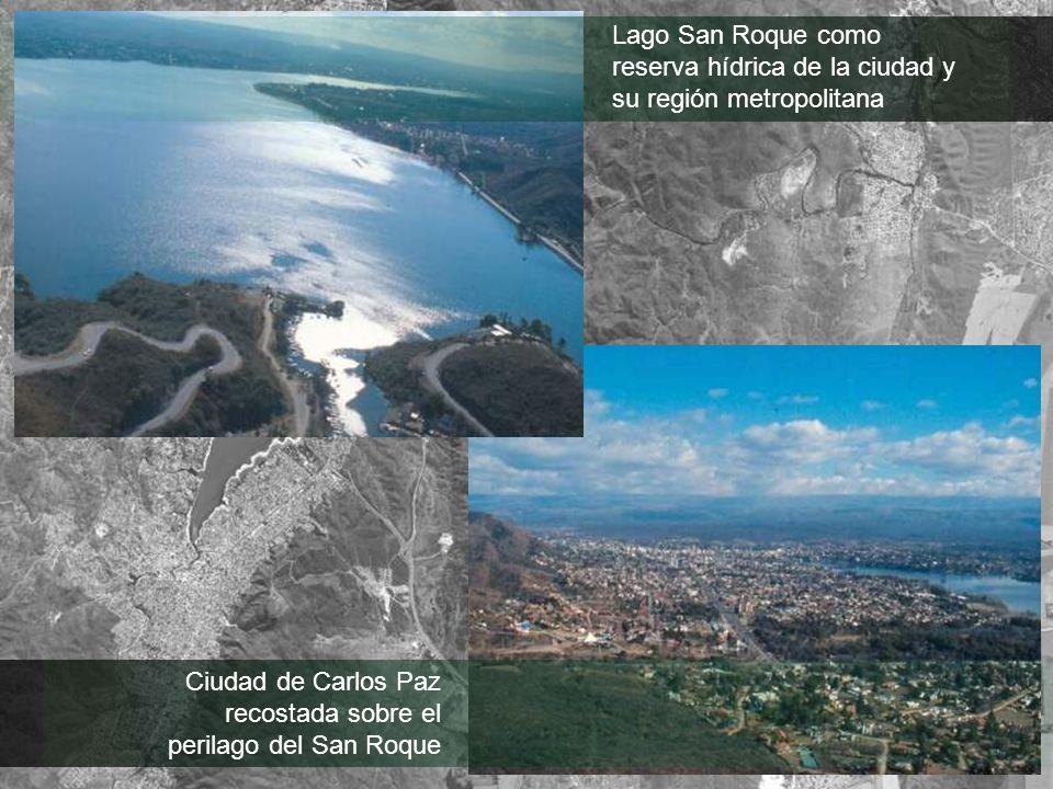 Lago San Roque como reserva hídrica de la ciudad y su región metropolitana Ciudad de Carlos Paz recostada sobre el perilago del San Roque