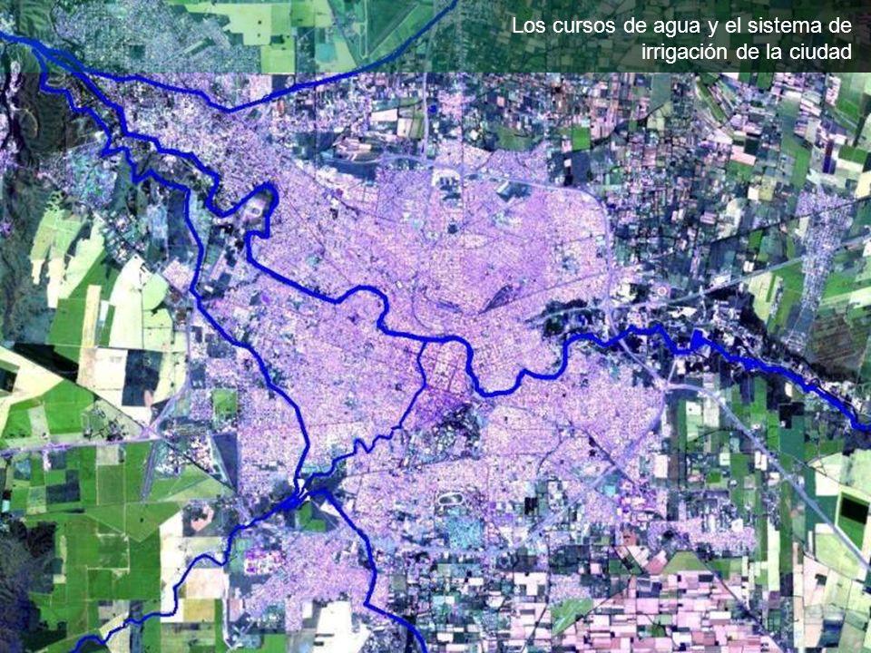 Los cursos de agua y el sistema de irrigación de la ciudad