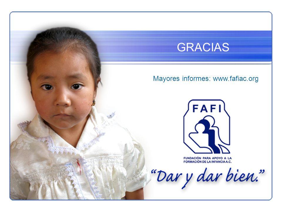 GRACIAS Mayores informes: www.fafiac.org