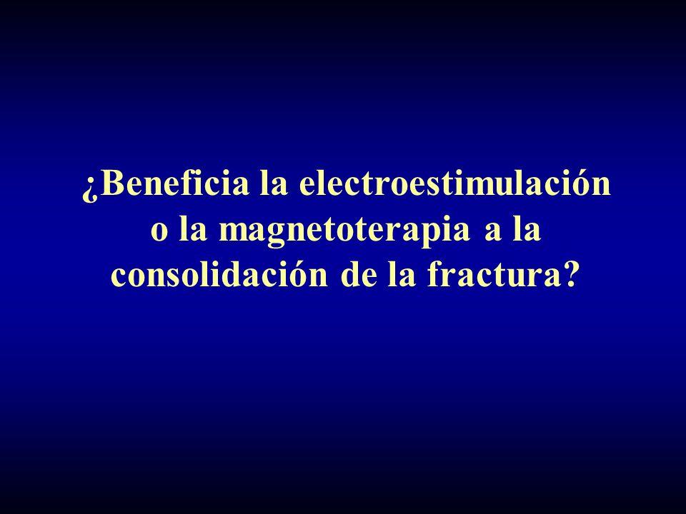 ¿Beneficia la electroestimulación o la magnetoterapia a la consolidación de la fractura?