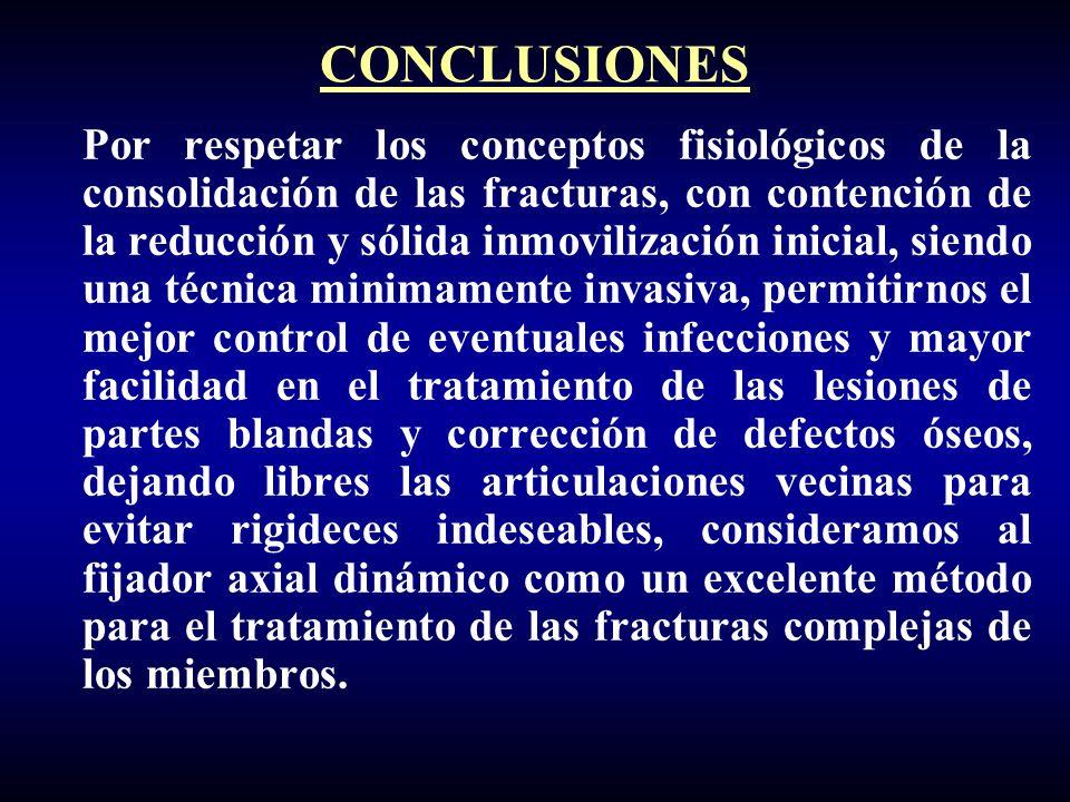 Por respetar los conceptos fisiológicos de la consolidación de las fracturas, con contención de la reducción y sólida inmovilización inicial, siendo u