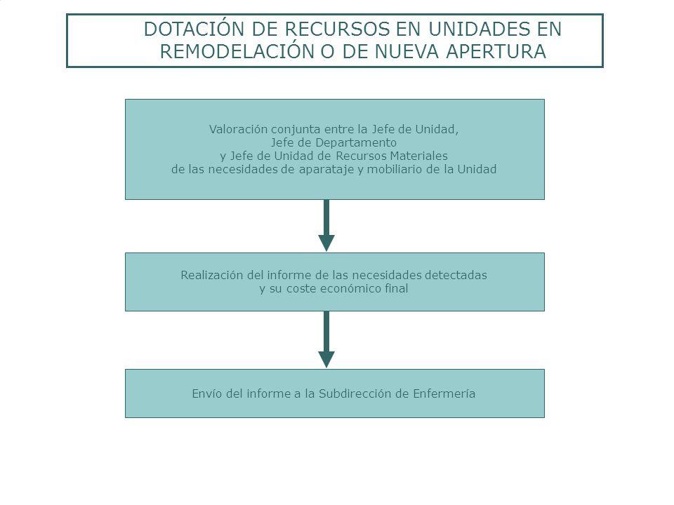 Realización del informe de las necesidades detectadas y su coste económico final Valoración conjunta entre la Jefe de Unidad, Jefe de Departamento y J