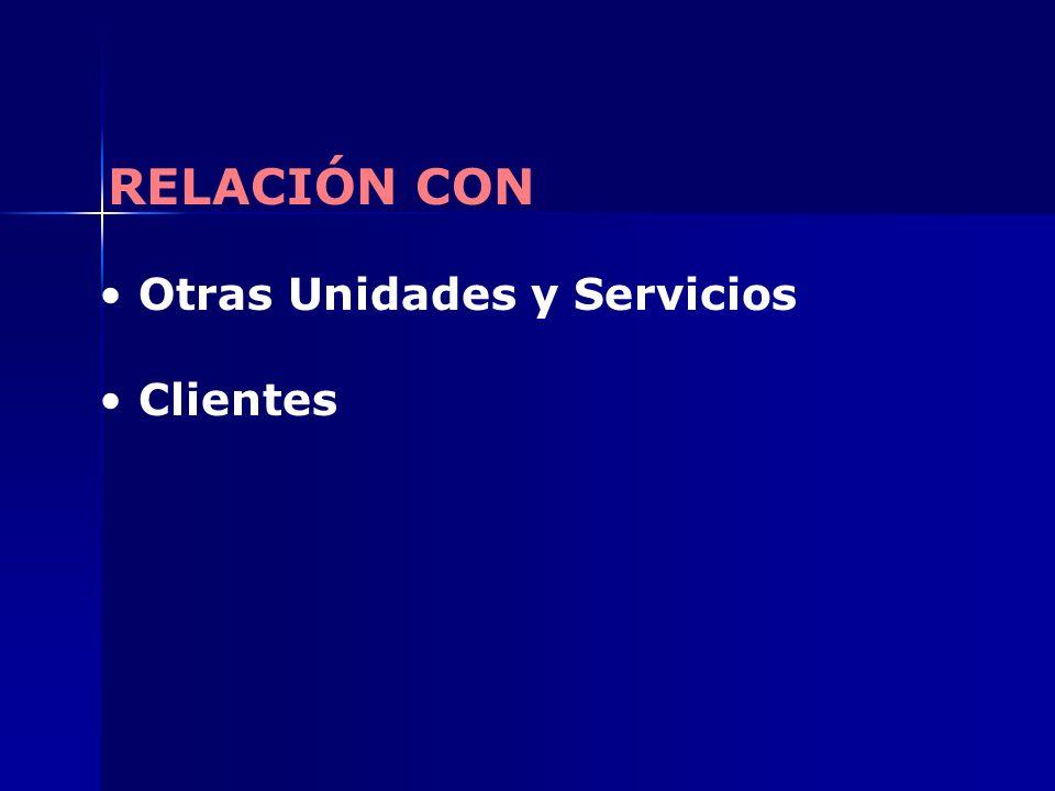 Otras Unidades y Servicios Clientes RELACIÓN CON