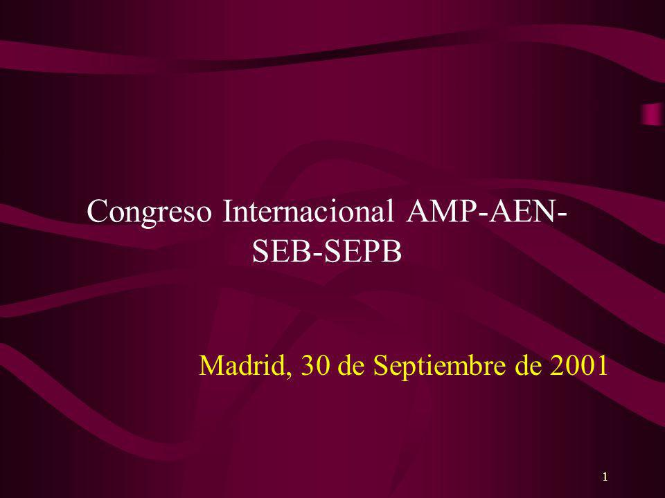 1 Congreso Internacional AMP-AEN- SEB-SEPB Madrid, 30 de Septiembre de 2001