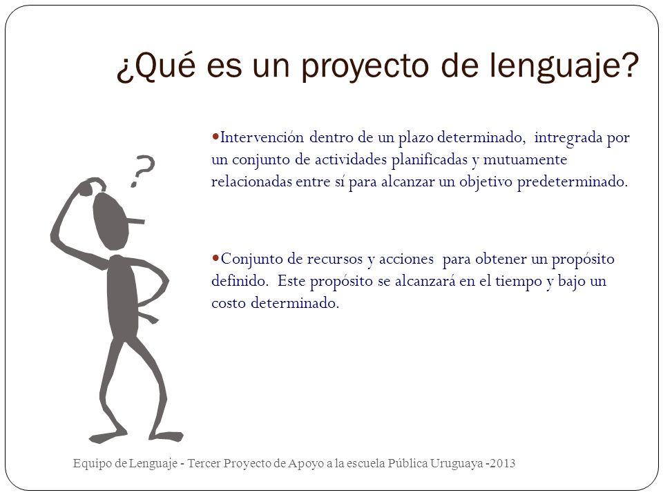 ¿Qué es un proyecto de lenguaje.