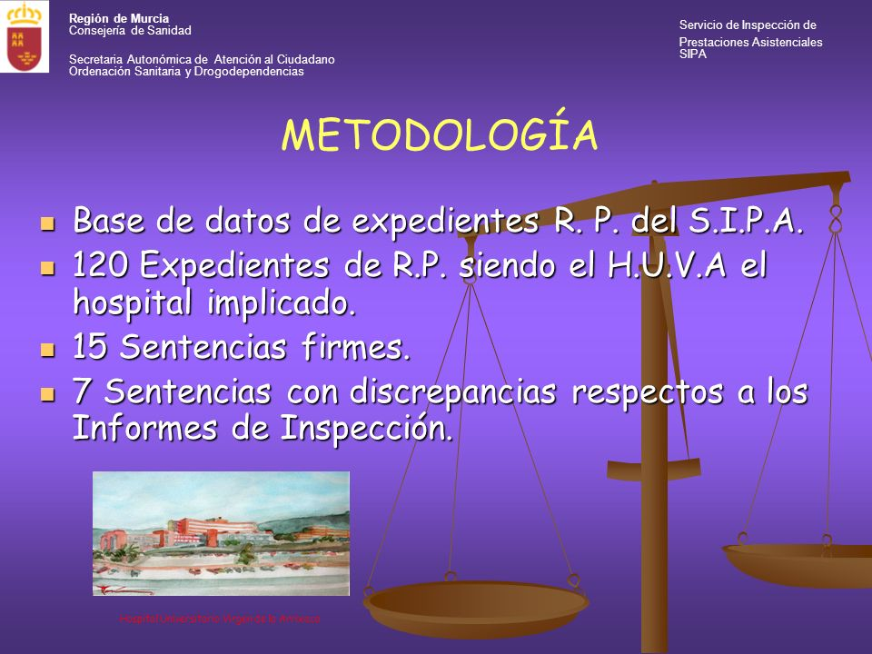 Región de Murcia Servicio de Inspección de Consejería de Sanidad Prestaciones Asistenciales SIPA Secretaria Autonómica de Atención al Ciudadano Ordenación Sanitaria y Drogodependencias RESULTADOS Insuficiencia de Medios Insuficiencia de Medios Defecto en la Información.
