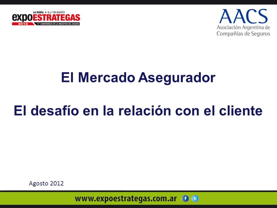 El Mercado Asegurador El desafío en la relación con el cliente Agosto 2012