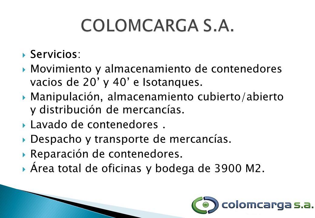 Servicios: Movimiento y almacenamiento de contenedores vacios de 20 y 40 e Isotanques. Manipulación, almacenamiento cubierto/abierto y distribución de