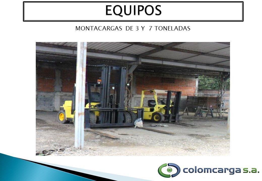 MONTACARGAS DE 3 Y 7 TONELADAS