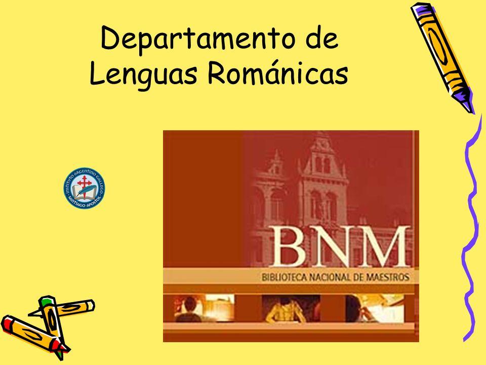 Departamento de Lenguas Románicas