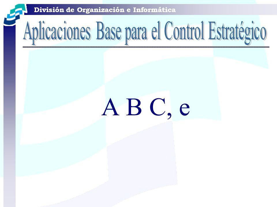 División de Organización e Informática A B C, e