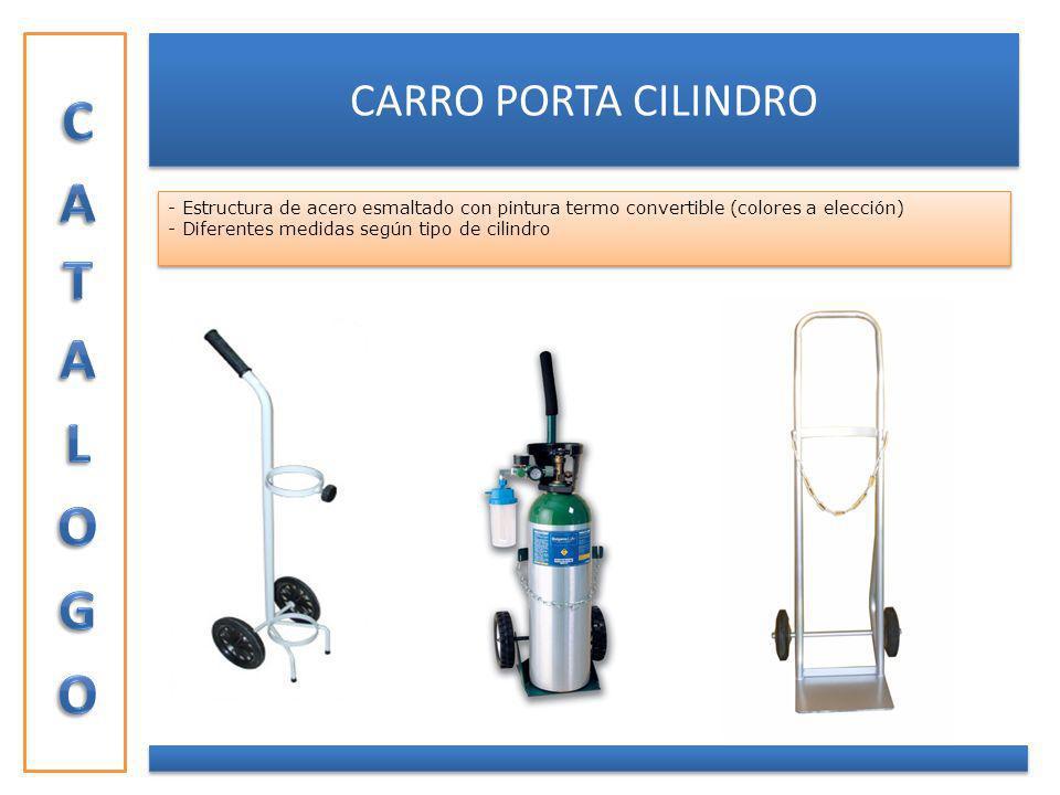 CARRO PORTA CILINDRO - Estructura de acero esmaltado con pintura termo convertible (colores a elección) - Diferentes medidas según tipo de cilindro -