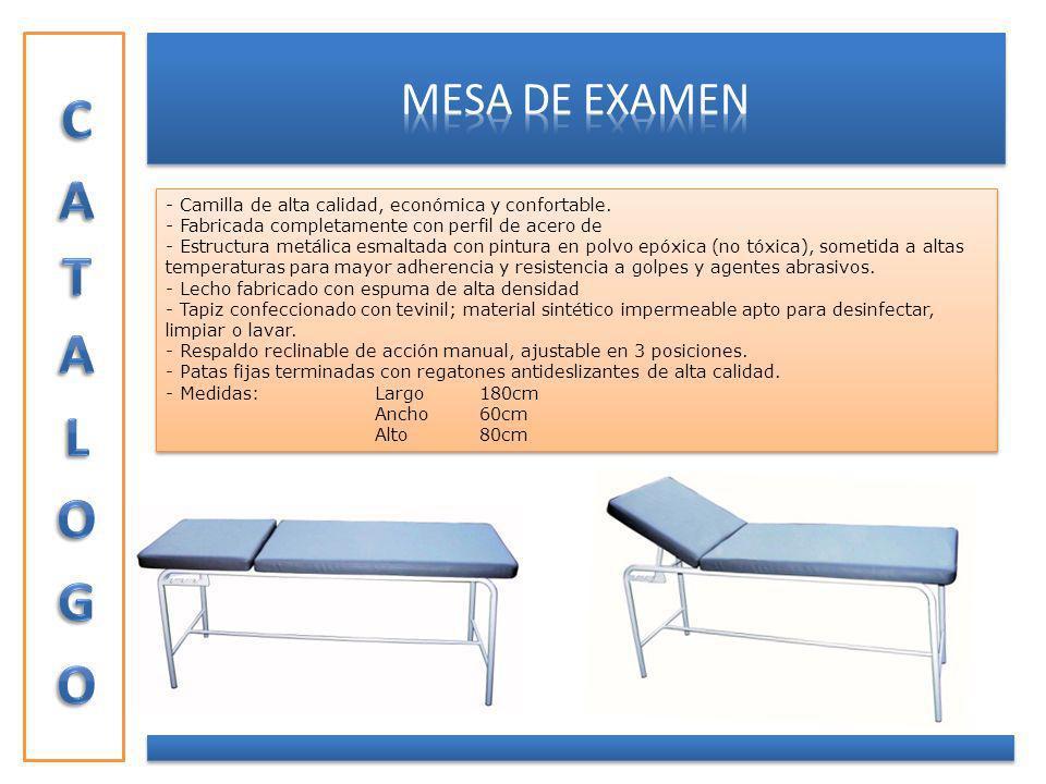 CAMILLA EMERGENCIA PLEGABLE - Estructura de acero esmaltado con pintura termo convertible.